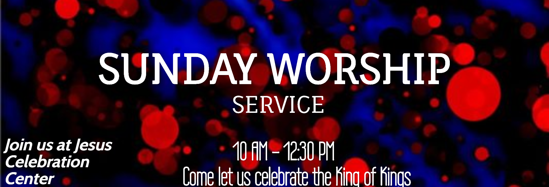 New Year's Eve Church Website Banner